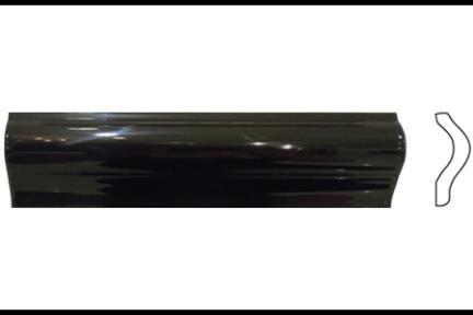"""פרופיל  לגימור 20 ס""""מ 2032-09. קרניז הפרדה, שחור מבריק, גודל 5X20"""