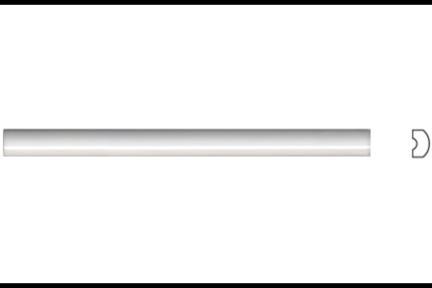 """פרופיל  לגימור 20 ס""""מ 2030. פס דק לבן מבריק, גודל 1.5X20"""