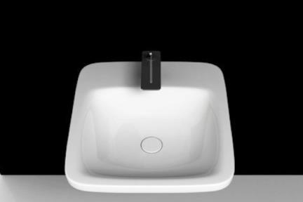 כיור מונח לחדר אמבטיה B507. כיור מונח / קיר (ללא סוגר קרמי), גודל 50/50