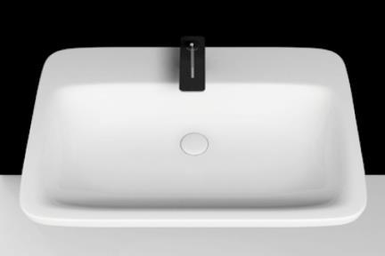 כיור מונח לחדר אמבטיה B708. כיור מונח / קיר (ללא סוגר קרמי), גודל 50/72  כיור תוצרת איטליה VALDAMA