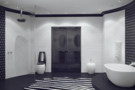 הדמיית חדר אמבטיה-2.ג. חדר אמבטיה בשחור לבן