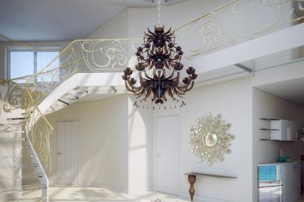 הדמיית חדר מדרגות-1.ב. מדרגות בהזמנה מיוחדת מזכוכית