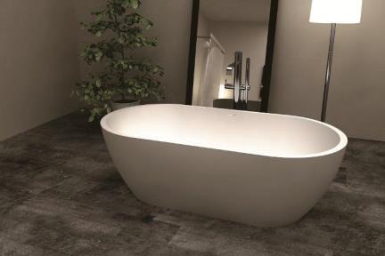 BT12GL. אמבטיה אבן מלאכותית לבן מבריק  גודל : 80*160  גובה : 54+