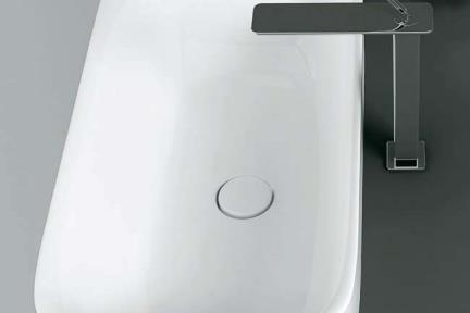"""כיור מונח לחדר אמבטיה B703. כיור מונח - חלקו בפנים   גודל: 38/70  גובה מעל המשטח 10 ס""""מ   SOL1000"""