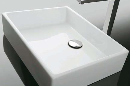 כיור מונח לחדר אמבטיה B505. כיור מונח לבן  גודל: 37.5/50, גובה 11.5  UNL0200