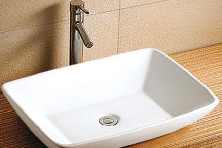 כיור מונח לחדר אמבטיה L631. כיור מונח לבן   גודל: 58.5/43