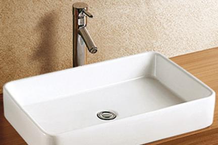 כיור מונח לחדר אמבטיה L610. כיור על מלבני  גודל: 61/41