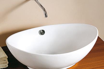כיור מונח לחדר אמבטיה L595. כיור על קערה לבן   גודל:  59/38.5