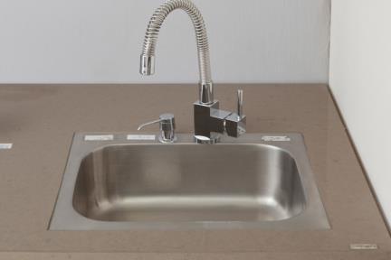 כיור למטבח עשוי נירוסטה NR4252. כיור נירוסטה למטבח.  גודל: 52*42.