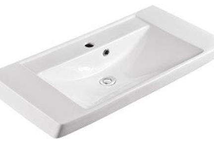 כיור מונח לחדר אמבטיה B8200. כיור לבן מונח, חצי בפנים  (אפשר גם לתלות על הקיר  גודל: 82/40