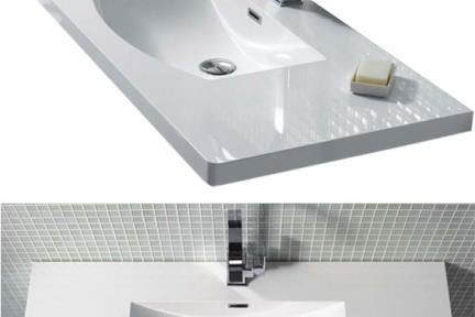 כיור אמבטיה אקרילי L6111. כיור אקרילי לאמבטיה  לארון 6111  גודל: 48/110