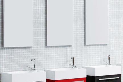 סדרה 6460. ארון לשירותים + כיור אקרילי  אורך: 46, רוחב: 26, גובה: 52  6460-1  ארון לבן + כיור לבן  6460-8  ארון אדום + כיור לבן  6460-9  ארון שחור + כיור לבן