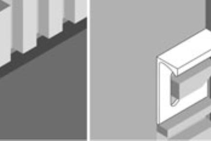 """שרטוט טכני. פרופילי PVC  מידה: 1X250 ס""""מ  א) הפרדה בין אריחי קיר  ב) סיומת עליונה  ג) סיומת צד (פינת קיר)"""