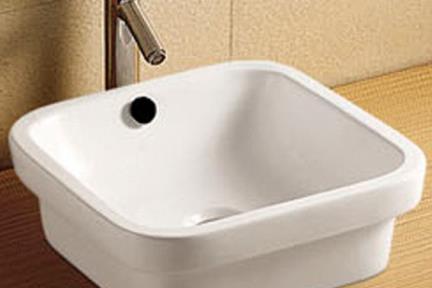 כיור מונח לחדר אמבטיה L403. כיור על מרובע  (אפשר גם חלקו בפנים)  גודל: 40/40