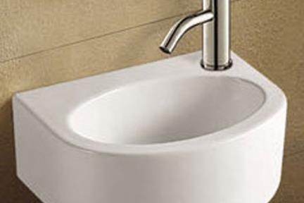 כיור ידיים לחדר השרותים L3010. כיור שירותים לקיר   לבן מבריק   גודל: 22.5/30