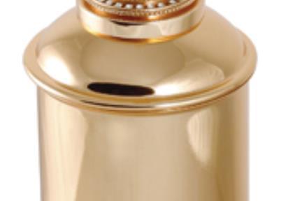 אביזרים לאמבטיה מסדרת Swarovski 7832G. צבע זהב