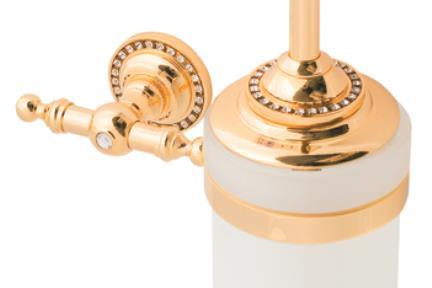 אביזרים לאמבטיה מסדרת Swarovski 7805G. צבע זהב