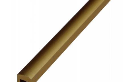 AL10. תיאור: פרופיל אלומיניום זהב ככה  גודל: 250*1