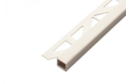 PV207. תיאור: פרופיל PVC לבן לפינה  גודל: 250*1.1