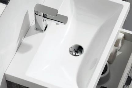 כיור אמבטיה אקרילי  L6600. כיור אקרילי לבן   גודל:  40/60