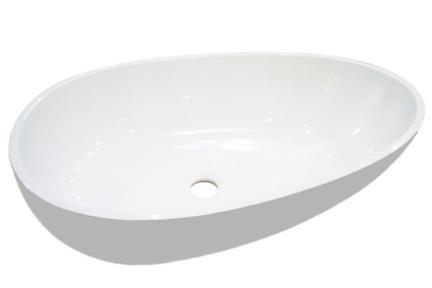 כיור רזינה לאמבטיה  L620GL5. כיור ביצה אפור-לבן  אבן מלאכותית גודל: 40/62