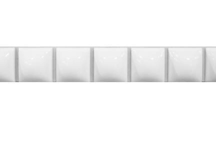 """פרופיל  לגימור 20 ס""""מ 2042. פס ריבועי בומבטו לבן   גודל:  20*2.3"""