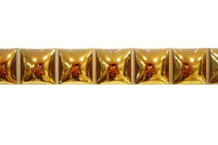 """פרופיל  לגימור 20 ס""""מ 2042-99. פס ריבועי בומבטו זהב   גודל:  20*2.3"""
