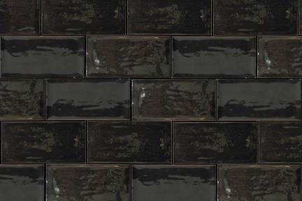 אריחים למטבח מקרמיקה 1235610. קרמיקה ענתיקה  שחור מבריק  גודל: 7.5/15