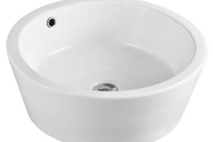 כיור מונח לחדר אמבטיה  L548. כיור מונח עגול  לבן מבריק  קוטר 48