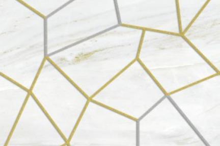"""אריחי פורצלן דק בעובי 3.5 מ""""מ בעיצובים דקורטביים 72015A. דקור גאומטרי- רקע שיש אפור.  גודל : 100*50"""