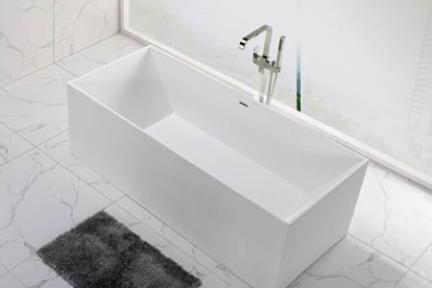 אמבטיה פרי סטנדינג BT14MT1. אמבטיה אבן מלאכותית  צבע : לבן מט  גודל: 73*175 , גובה : 57.