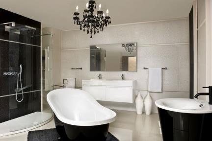 חדר אמבטיה בסגנון בז'