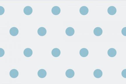 אריחי וינטג' לחיפוי קיר מסדרת Castello C514. דקור עיגולים תכלת.  גודל 20*10.
