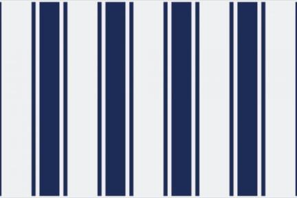 אריחי וינטג' לחיפוי קיר מסדרת Castello C518. דקור פסים כחול כהה.  גודל 20*10.