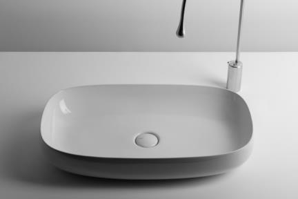 כיור מונח לחדר אמבטיה B710-01. כיור מונח תוצרת איטליה VALDAMA גודל: 40*70  גבוה: 13.
