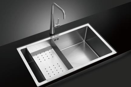 כיור למטבח עשוי נירוסטה NR8306. כיור נירוסטה למטבח.  גודל: 45*76.  גובה:22.