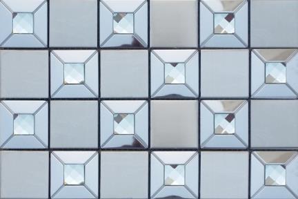 אריחי פסיפס לחיפוי קיר מנרוסטה1003720. פסיפס נירוסטה + זכוכית.  גודל: 30*30.