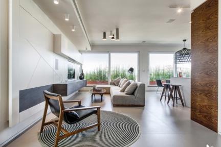 חדר מגורים. חדר המגורים-סלון    תכנון ועיצוב: ליאת דביר-רותם.  צילום: ניצן הפנר.