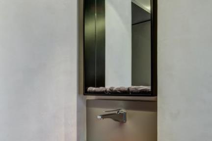 שירותי אורחים. צבעוניות אסייתית לשירותי האורחים    תכנון ועיצוב: ליאת דביר-רותם.  צילום: ניצן הפנר.