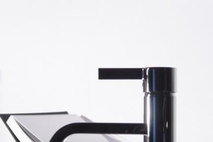 ברז T Bongio סדרת T Mix 15 08521Q. ברז פרח, פיית מפל  רוזטה מרובעת