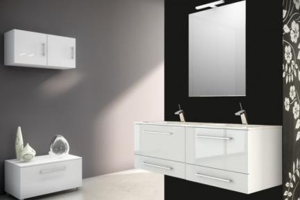 """ארונות אמבטיה לאחסון  B6062. גודל: 46*60  כיור רזינה לבן, עובי 2.5 ס""""מ. מתאים לארון 6060"""