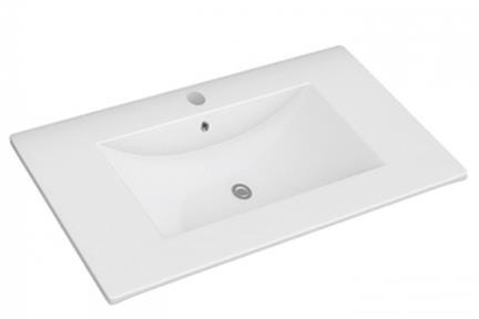 """כיור אמבטיה אקרילי B6062. גודל: 46*60  כיור רזינה לבן, עובי 2.5 ס""""מ, מתאים לארון 6060"""