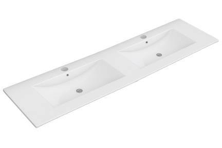 """כיור אמבטיה אקרילי B6262. גודל: 46*121  כיור רזינה כפול לבן , עובי 2.5 ס""""מ"""