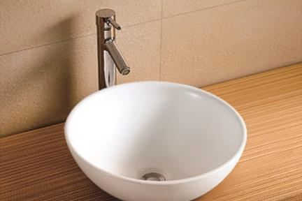 כיור מונח לחדר אמבטיה L40. גודל: 40*40  עומק: 16