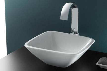 """כיור מונח לחדר אמבטיה B302. כיור מונח גביע מרובע  גודל: 30*30  מחיר: 702 ש""""ח"""