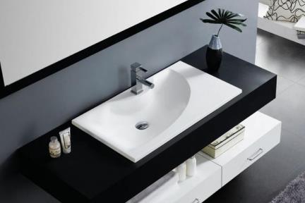 כיור רזינה לאמבטיה B810MT. כיור רזינה מט עם קשת.  גודל: 81*45