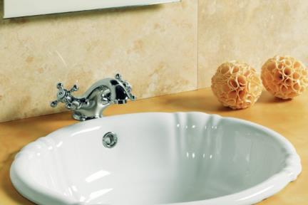 כיור מונח לחדר אמבטיה B485. כיור שולחני ענתיקה   גודל: 40*49.5