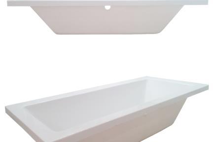 אמבט בעיצוב מודרני BT1704. גודל: 80*180  אמבטיה נקיה ישרה לבנה.