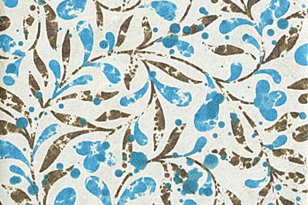 אריחי ריצוף וינטג' סדרת Mix Stone C923. גודל:20*20  דקור עלים כחולים