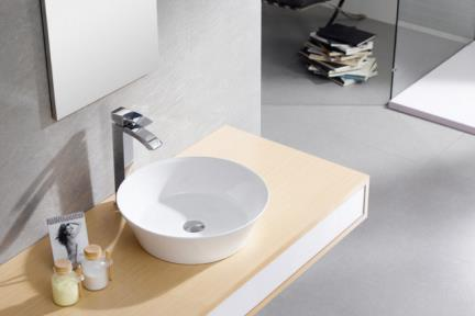 """כיור מונח לחדר אמבטיה B421. כיור מונח קערה.  קוטר 42 ס""""מ  גובה: 12.5 ס""""מ"""